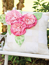 Ruffled Rose Pillow