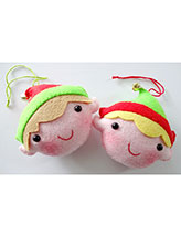 Felt Elf Ornaments