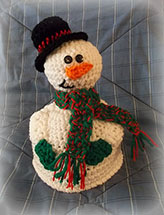 Snowman Topper Hat & Stuffie