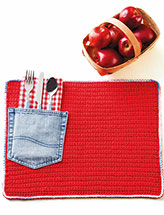 Denim Pocket Place Mat