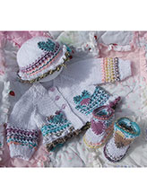 Lacy Heart Baby Set