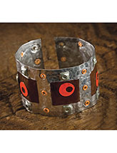 Colorful Riveted Cuff