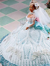 White Pineapple Fashion Doll Gown
