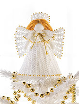 Beaded Treetop Angel