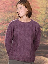 Panels in Plum Pullover