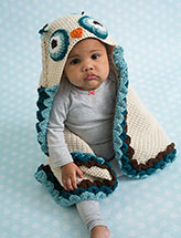 Owl Hooded Blanket
