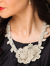Platinum Petals Necklace