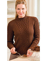 Mocha Cabled Pullover