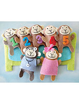 5 Little Monkeys Finger Puppet Set
