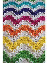 Loop the Loop Chevron Afghan