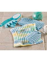 Waffle Stitch Spa Cloth & Soap Sack