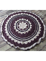 A-Round the Flower Garden Afghan