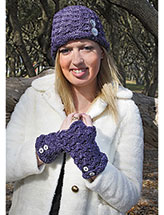 Fiona Hat & Fingerless Mitts