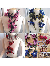 Knitted Garland Scarves