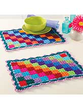 Diagonal Blocks Table Mats