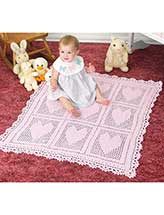Heart's Delight Baby Blanket