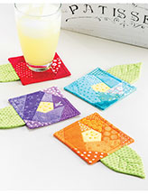 Scrappy Flower Coaster Set