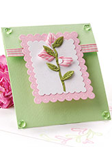 Rosebud Ribbon Card