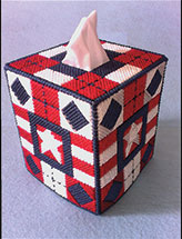 Patchwork Americana Tissue Topper
