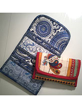 Quilted Clutch-Style Wallet