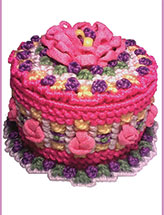 Laced With Love Petite Pink Petal Cake