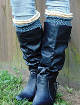 Ruffle Top Boot Cuffs
