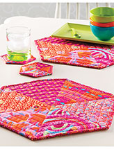 Mega Hexie Place Mat & Coaster Set