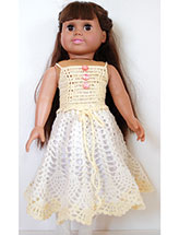 "Pineapple Dream Skirt & Top for 18"" Dolls"