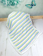 Crocodile Stitch Baby Afghan