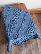 Celtic Cables Baby Blanket