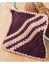 Diagonal Shells Pot Holder