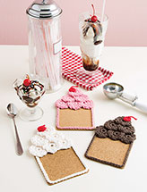Ice Cream Sundae Coasters