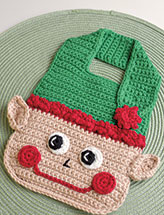 Christmas Elf Baby Bib