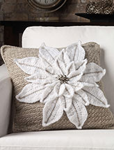 Plush Poinsettia Pillow