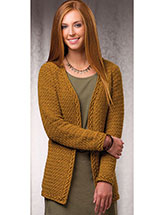 Braided-Edge Cardigan