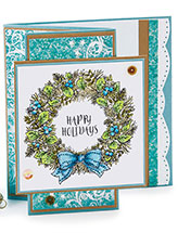 Z-Fold Holiday Wreath Card