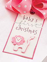 Baby's First Christmas Tag