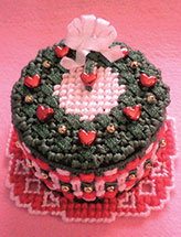 Laced With Love Petite Wreath Cake