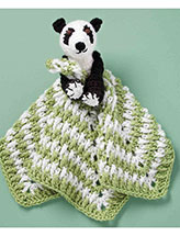 Panda Bear Rattle Blankie Pal