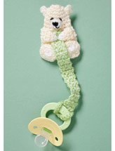 Teddy Bear Pacifier Holder