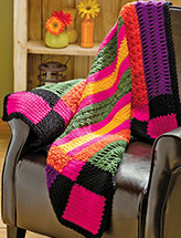 Vibrant Stripes Sampler Throw