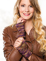 Annie's Signature Designs: Linen Stitch Wrist Warmers Knit Pattern
