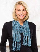 Annie's Signature Designs: Skinny Holiday Scarf Knit Pattern