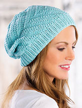 Annie's Signature Designs: Moving Currents Hat Knit Pattern