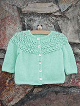 Annie's Signature Designs: Little Sis Cardigan Knit Pattern