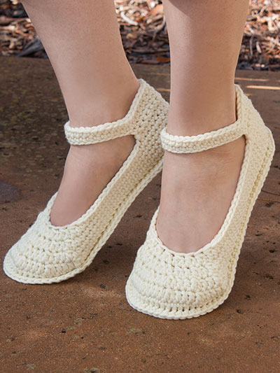 Annie's Signature Designs: Summer Slippers Crochet Pattern