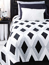 Dramatic Diamonds Bed Quilt