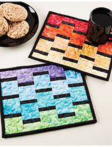 Rainbow Mug Rugs Pattern