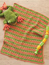 The Frog & the Peach Baby Blanket Crochet Pattern