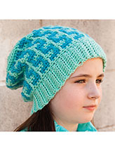 Confetti Stripes Hat Crochet Pattern